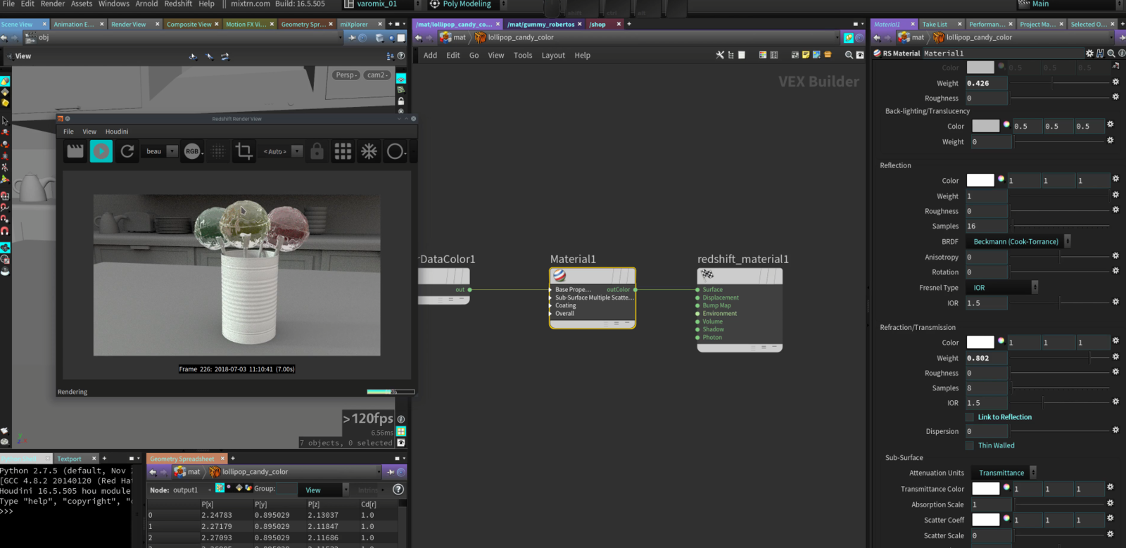 Shading with Redshift