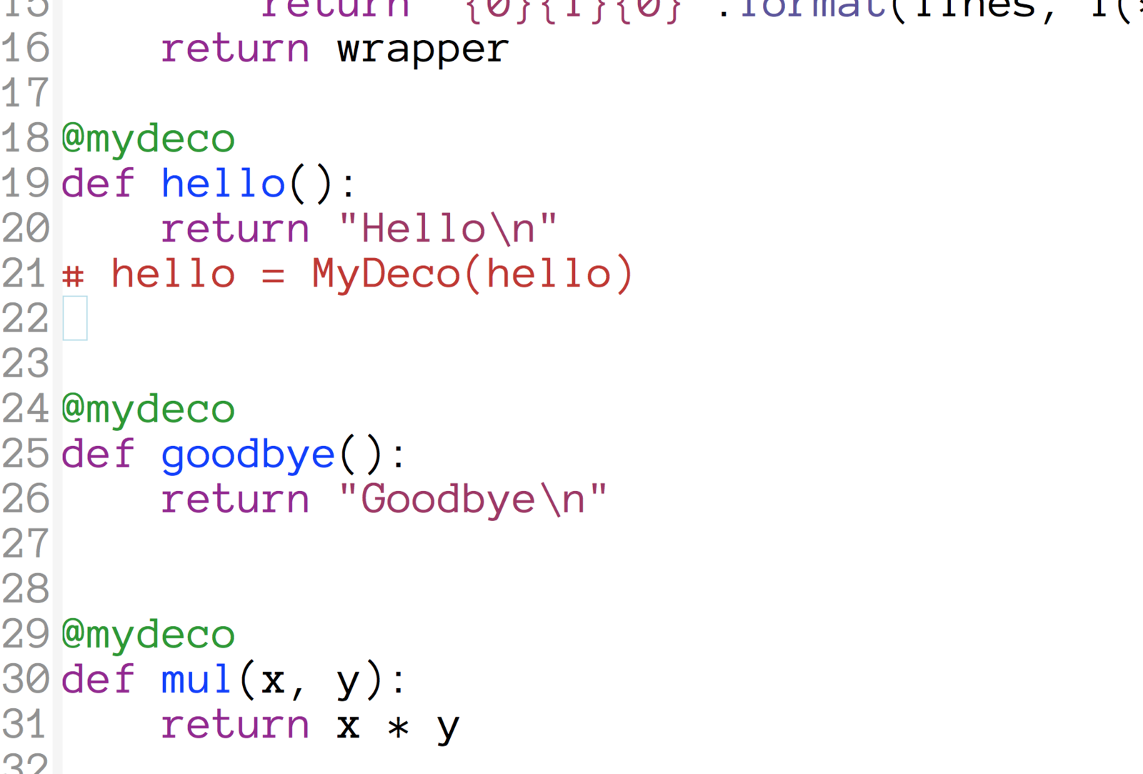 Python Decorators Live Edition