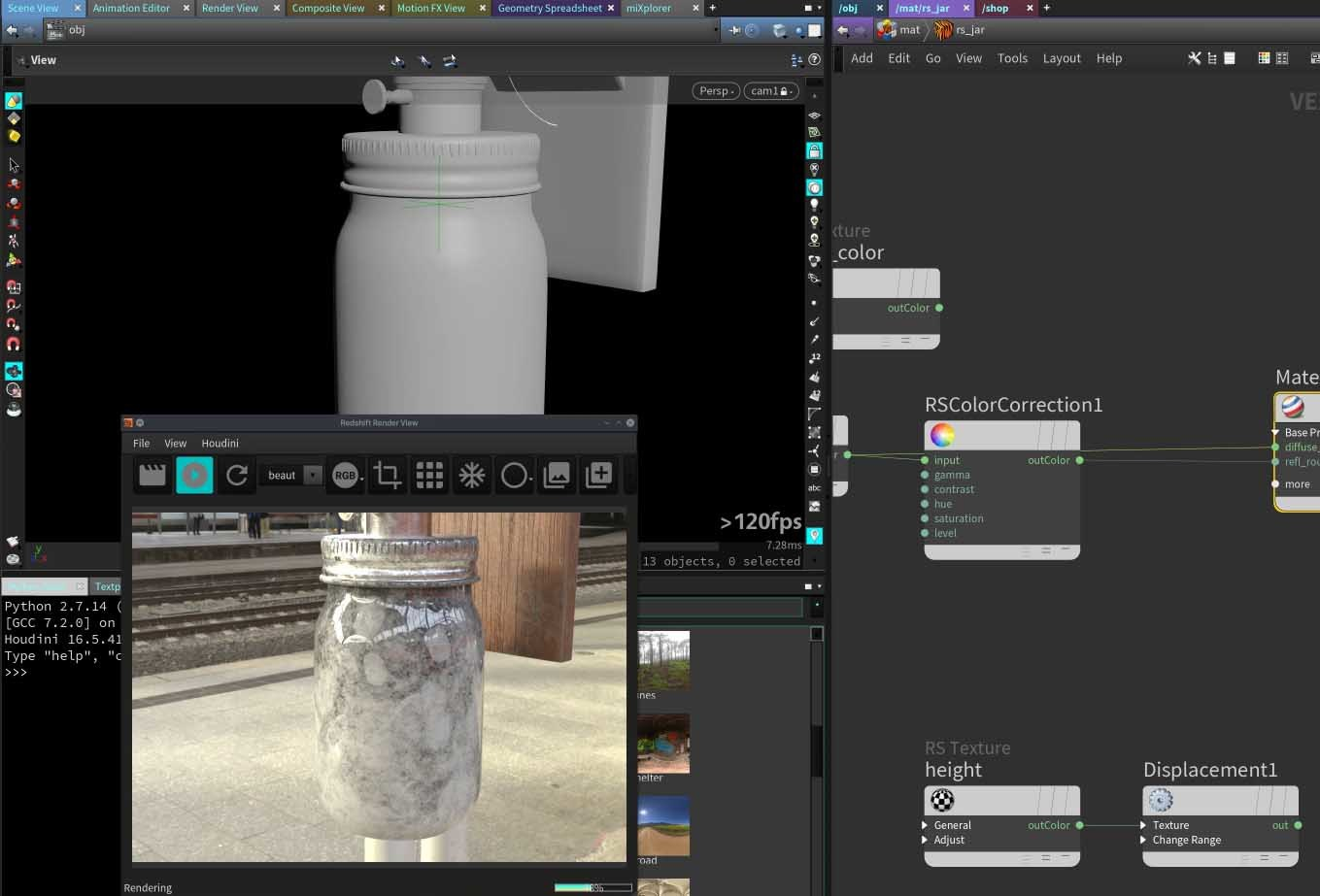 Rendering and Compositing – The Lamp Project 3