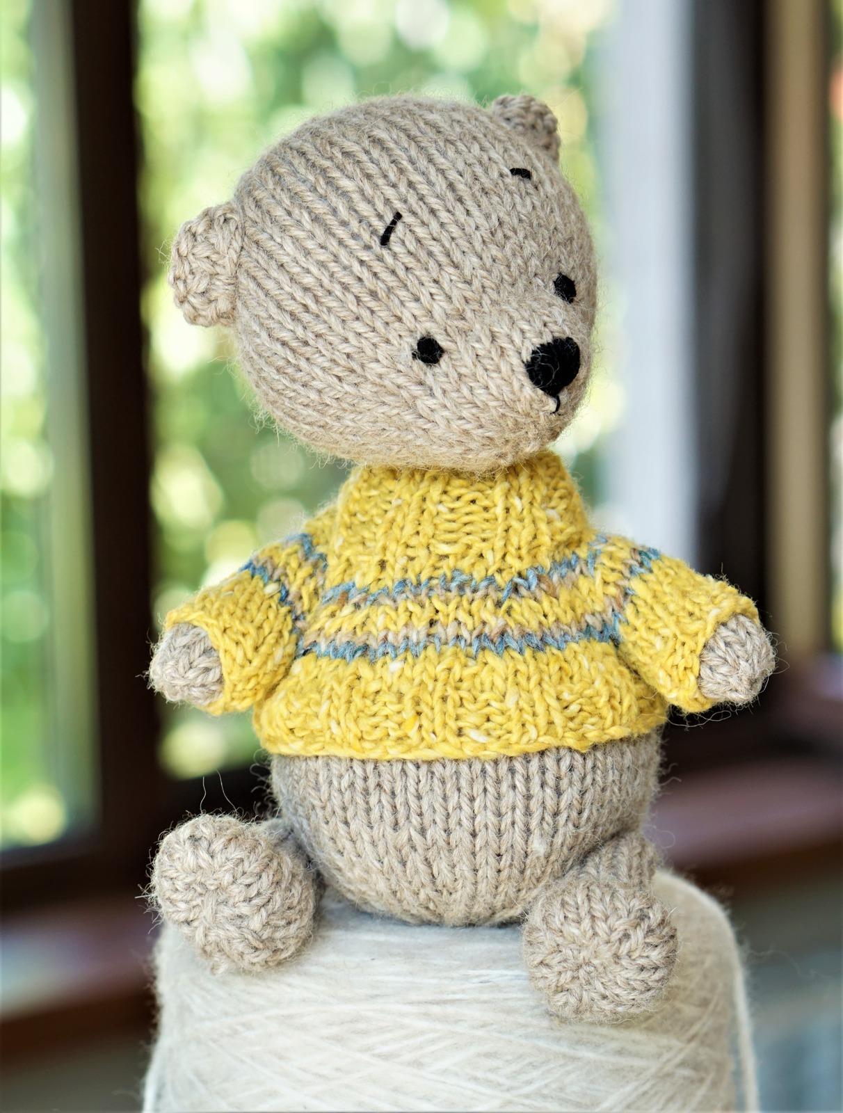 Knitted Little Teddy Bear