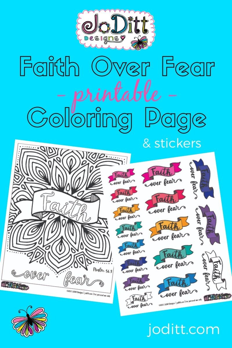 faith over fear coloring page