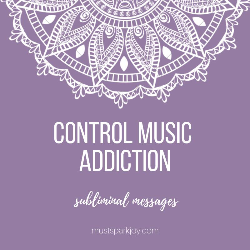 Subliminal Audio MP3: Control Music Addiction - 528 Hz